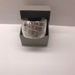 Tiffany Sterling silver polished spider web cuff
